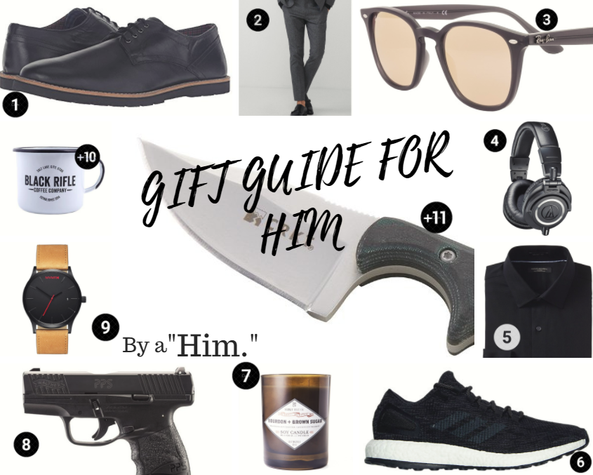 "Gift Guide for Him, by a ""Him."""