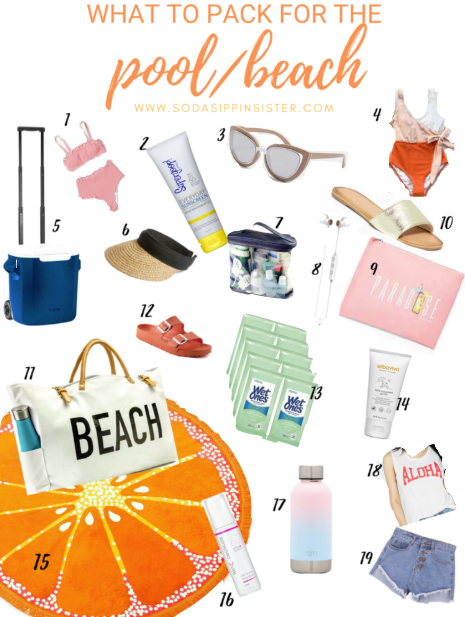What to Pack for the Pool/Beach