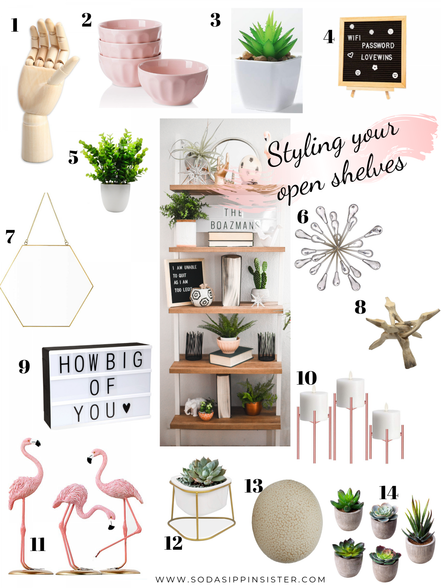 Styling Open Shelves; Tips and Tricks