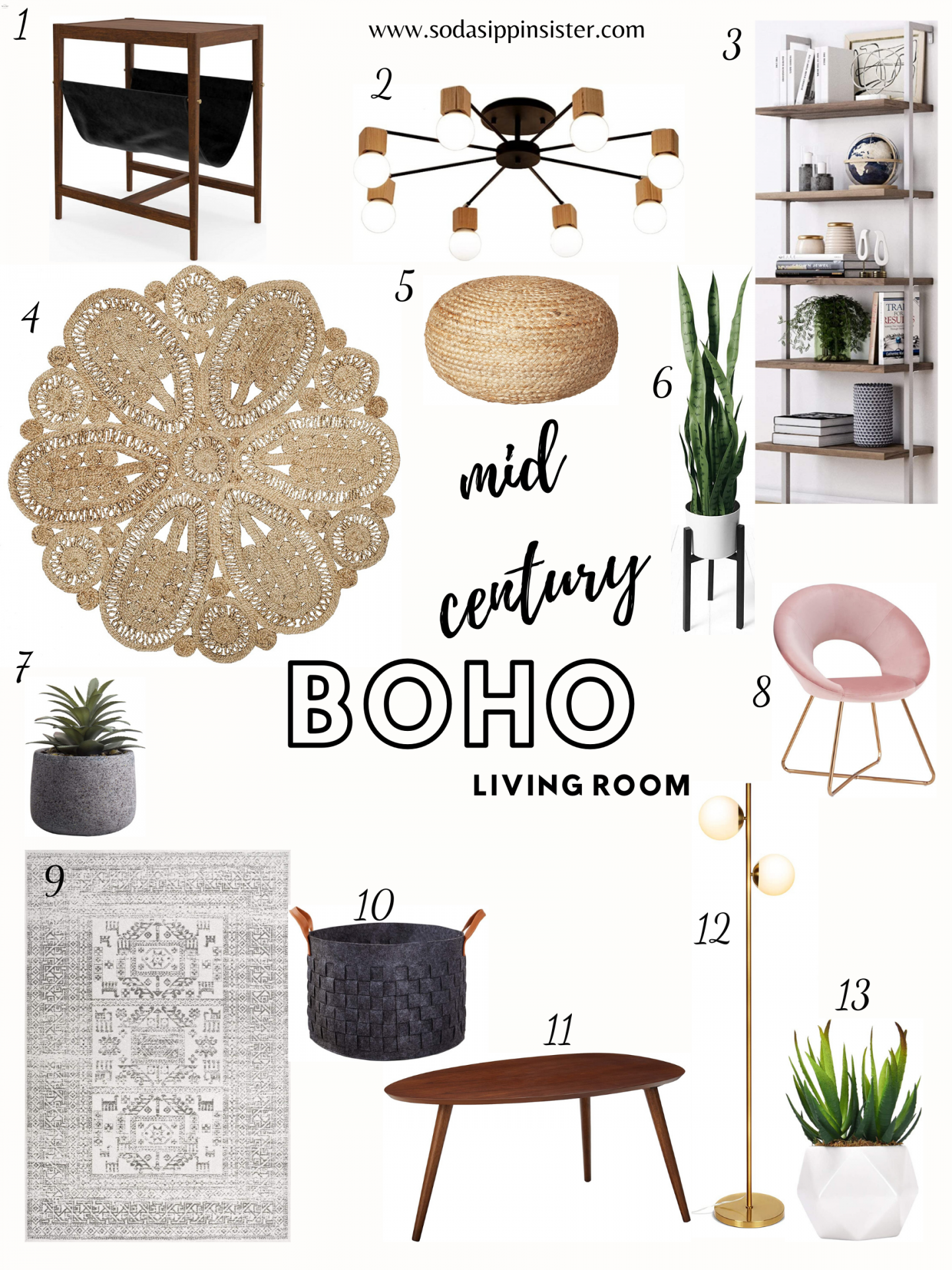 Affordable Finds to Mid Centurize Your Living Room